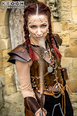 IMG_9477.jpg (Neil Keogh Photography) Tags: silver whitbygothweekend steampunk sword shoulderguards viking brown steampunkdress armguards red warrior goth armour blouse whitby top female woman whitbygothicweekendapril2017 facepaint black gothic trousers leather waistcoat white