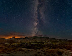Just before dawn, Honeycomb Buttes, #2 (andertho) Tags: wyoming milky way red desert honeycomb buttes jeep nikon d810