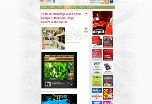 Best Photoshop Web Layout Design Tutorials