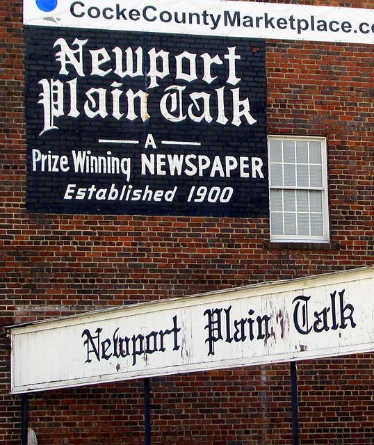 Newport Plain Talk old wall ad