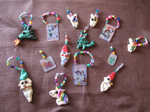 "All of our handmade ""Fairy Tale"" ornaments"