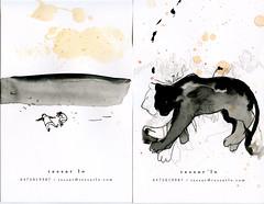 bw11 (tessar lo) Tags: winter blackandwhite bw ink drawing postcard 2009 tessarlo