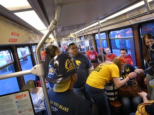 On the way to the game
