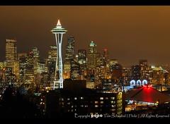 Seattle Skyline (pdxsafariguy) Tags: seattle skyline night washington queenanne spaceneedle kerrypark tomschwabel