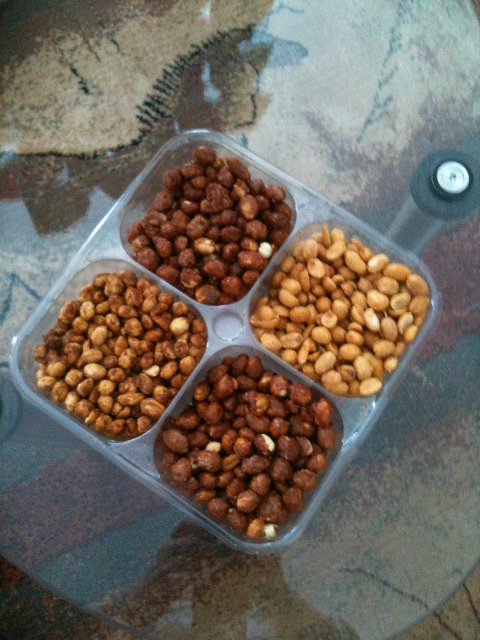 Nuts at dad's