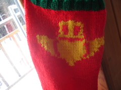Claddagh Christmas stocking close