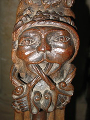 Green Man, Christ Church (Thorskegga) Tags: wood uk england man building green english church face religious one 1 wooden carved christ cathedral britain head grade carving oxford british pew oxfordshire listed foliate