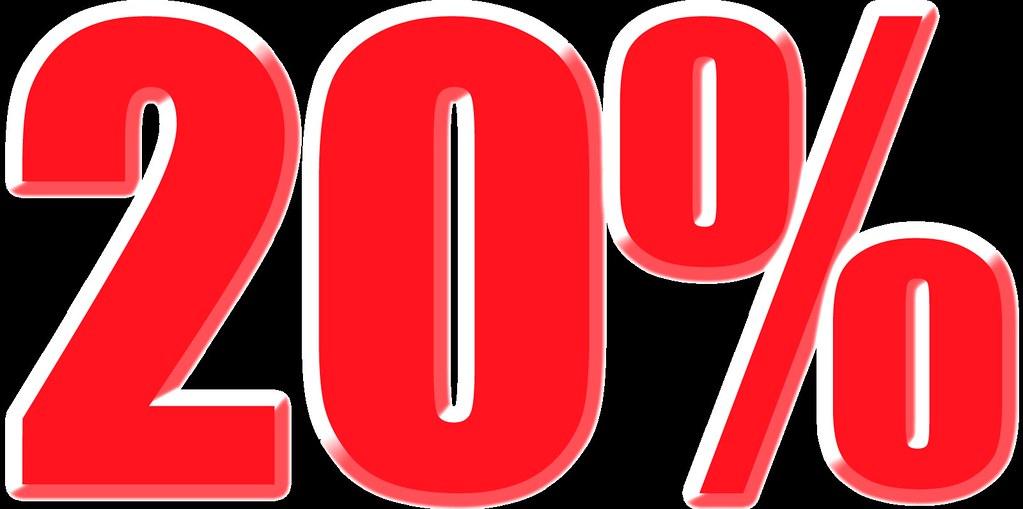 imagenes del 20% para carteles de rebajas