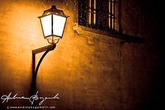 Finding the way (Andrea Bugamelli) Tags: street light night streetlamp neve bologna notte lampioni