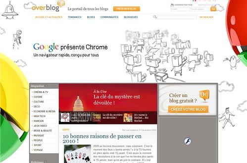 Chrome Overblog