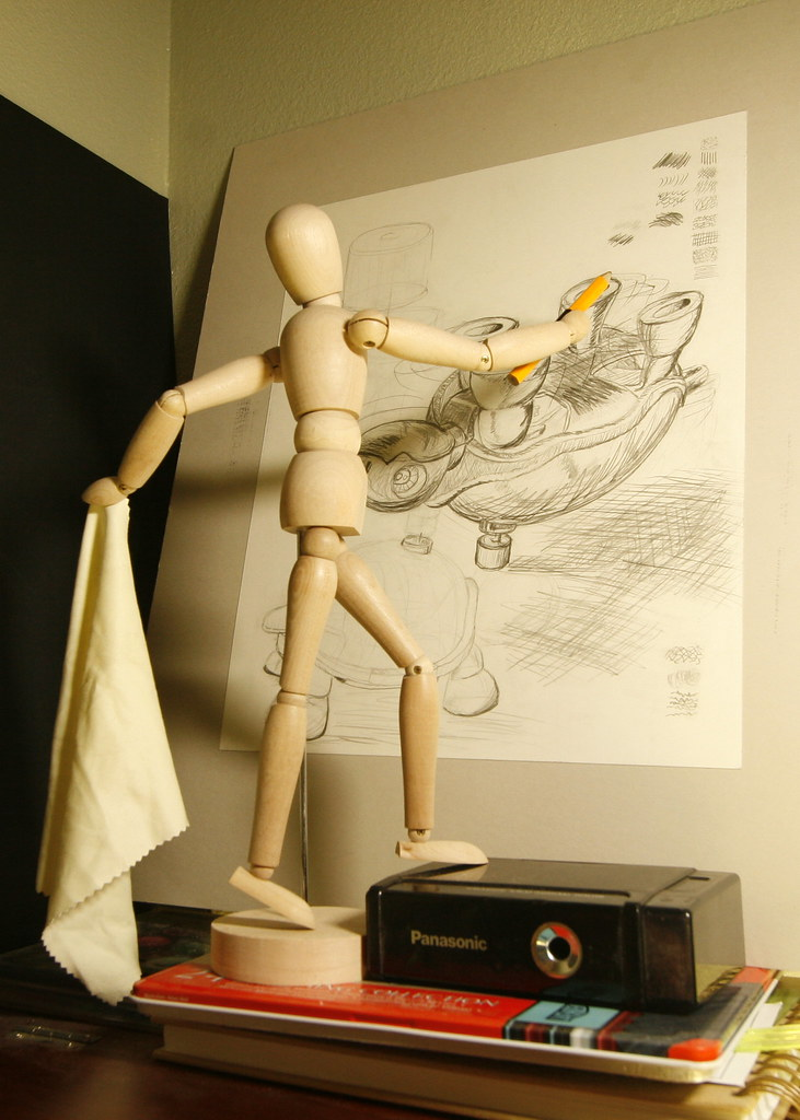 Day 7th of 365 day in a life: Sometimes i feel like this wooden guy, stiff and rickety trying to finish projects on time deadlines i tell ya wear me out