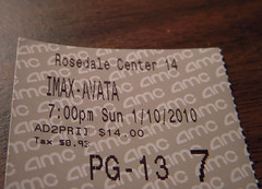 POTD-10: Ticket stub (uhhey) Tags: movie avatar ticket potd amc stub