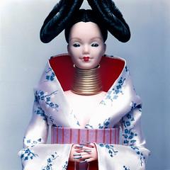 Bjrk (Flint :o)) Tags: fashion ooak barbie kimono bjrk hautecouture fashiondoll mattel homogenic custommade designerdoll repaint reroot alexandermcqueen