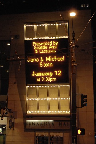 Jane and Michael Stern at Benaroya