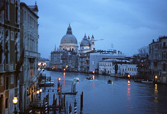 Grand Canale / blue hour (zsozso68) Tags: blue venice italy water lamp boat italia grand hour zenit ttl palazzo venezia canale egy lighs pontedellaccademia túrista fényképez luxtop100