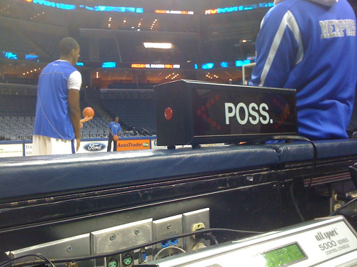Courtside at the FedEx Forum