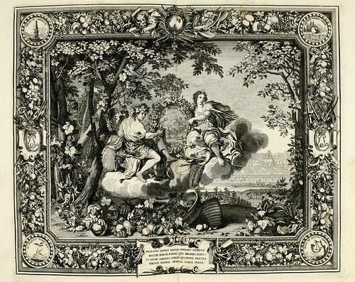 028- Las estaciones- Otoño-Tapisseries du roy, ou sont representez les quatre elemens 1690- Sebastien Le Clerc