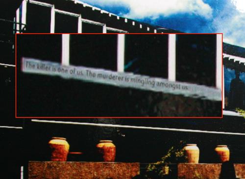 Clue - Murderer in the details