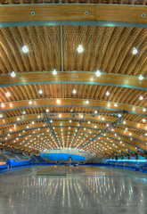 Richmond Olympic Oval  preparations for  2010 Olympic Winter Games (janusz l) Tags: wood roof pine vancouver speed geotagged track skating beetle richmond olympic questions hdr roo olympicoval 2010 janusz leszczynski olympicwintergames 400meter woodwave geo:lat=49174802 geo:lon=123150473 001750