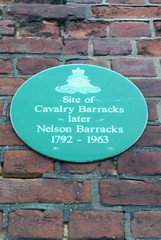 Photo of Cavalry Barracks green plaque
