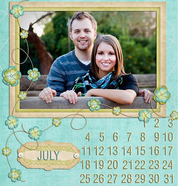 digi calendar july