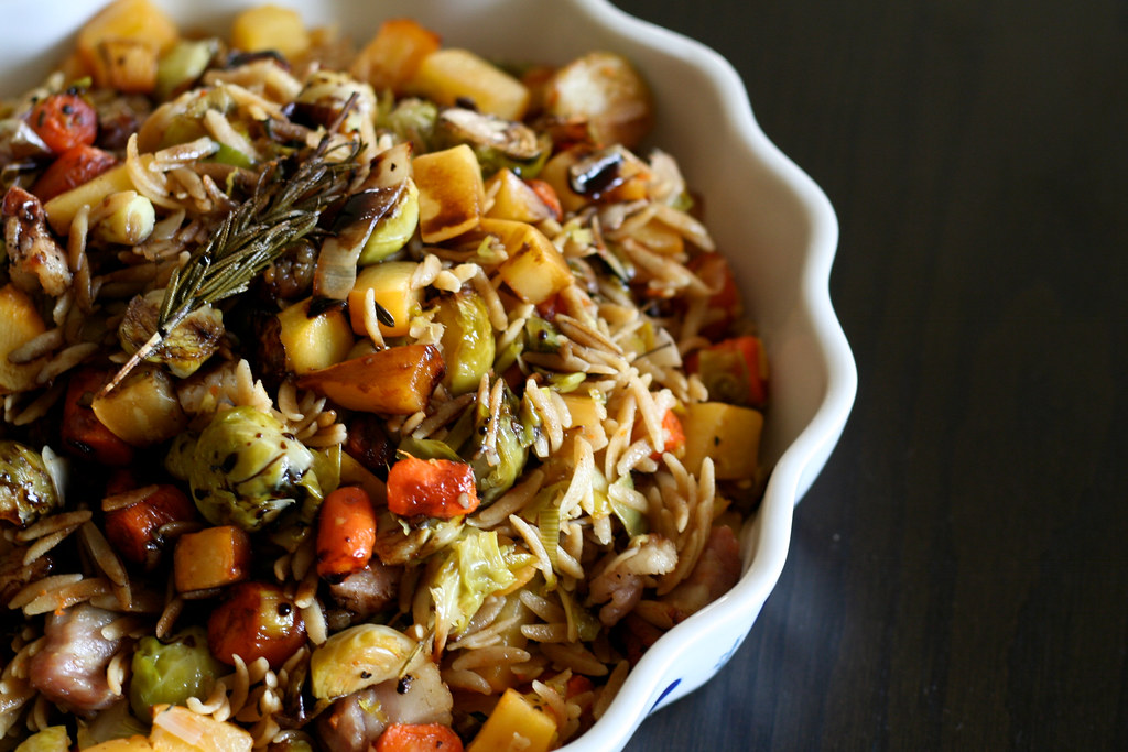 Warm Winter Vegetable Salad (with bacon!)