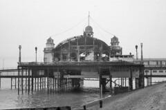 Pier Pavilion, Southend-on-Sea -  October, 1959 (piktaker) Tags: firedamage southend southendonsea southendpier essex uk pavilion