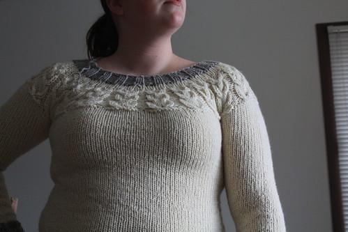 Owls sweater, pre-eyes