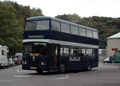 City of Gloucester within the County of Gloucestershire (BranksomeChine) Tags: bus gloucester preservation nailsworth leylandolympian bristolomnibus nbcblue cotswoldgreen roebodywork go8621 bristol9500 jhu899x