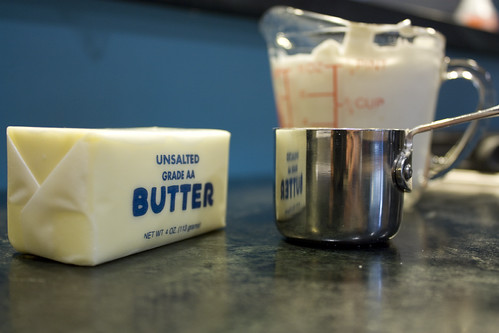 Butter and the measuring cup