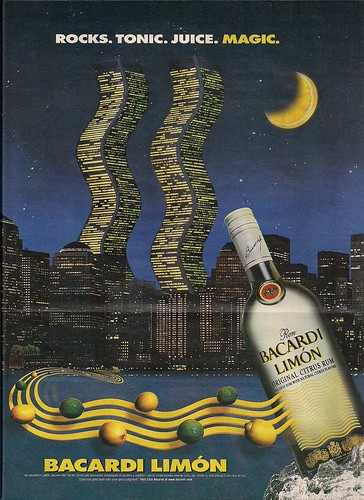 1998 Bacardi Limon Ad (WTC Views)