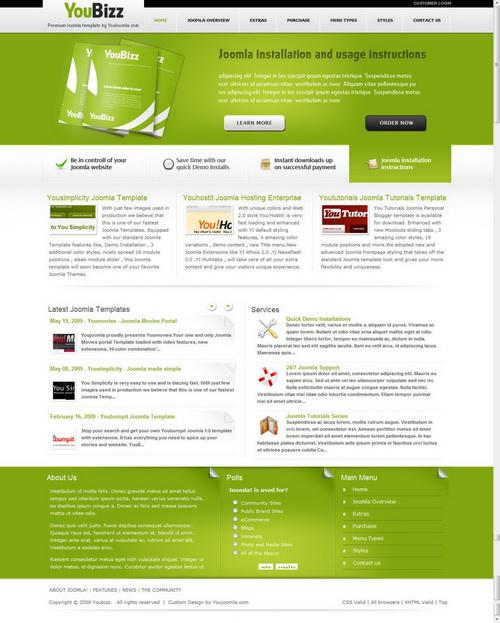 YouBizz   Joomla Business Template