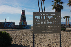 Painting By Permit Only (loudguitars) Tags: venice beach graffiti graffitizone marvinbraudebiketrail