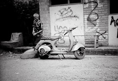 Prooft... (firdaus usman) Tags: bw indonesia vespa antique rusty 2009 canoneos5 bwfilm neopanss mogok fujineopanss firdaususman tamron28200mmf3856asphericalaf minigrain1117min