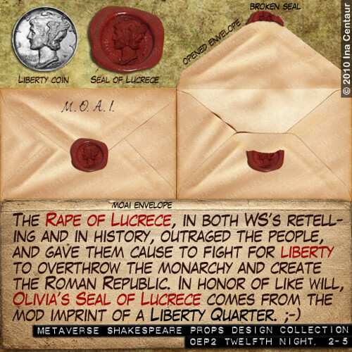 msc props design collection - seal of lucrece liberty