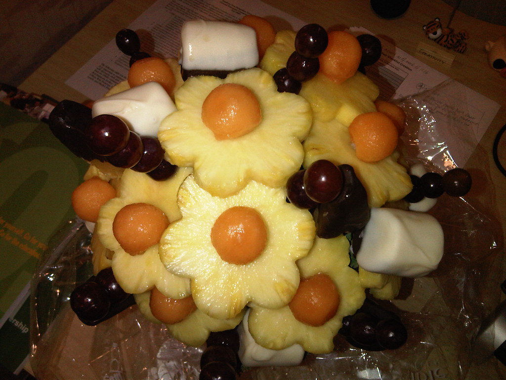 fruit bouquet from the top