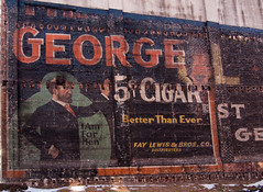 5 Cigar ~ Henry George Cigars (Pete Zarria) Tags: signs illinois cigars bulldurham ghostsign