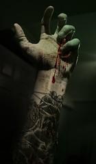 Drag Me To Hell Final Edit (Daniel Linthwaite) Tags: green grave tattoo night scary blood glow hand zombie daniel ghost fingers spooky gore haunt splat wolve linthwaite