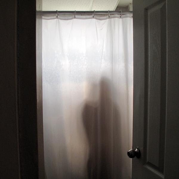 Hiding behind