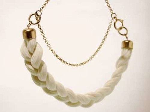 Grauwal syntetic hair braided necklet 4