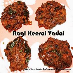 Kavitha & Gayathri's Ragi Spinach Vada