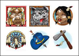 free Little Chief Big Cash slot game symbols