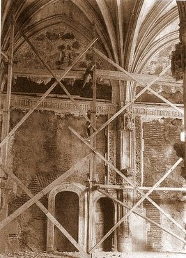 Monasterio de San Juan de los Reyes durante la restauración de inicios del siglo XX
