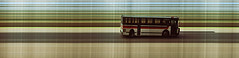 Trimet bus passing my house, slit scan image (Matt Abinante) Tags: oregon portland pdx trimet doityourself kodakgold200 slitscan kodaksignet35 signet35 linearstrip stripphotography diycamera