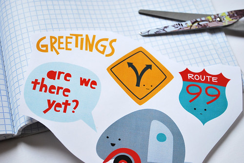 Road Trip collage journaling