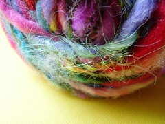 beloved (5) (rosie.ok) Tags: wool rainbow knitting colorful soft handmade crochet fluffy craft yarn spinning fiber artisan woollen handspun fibre spun