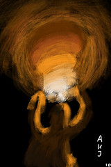 FGT! Week 20: Penses solitaires (OHNart) Tags: light man mobile painting ipod finger autodesk touch sketchbook week 20 fingerpainted iphone fgt penses solitaires ohnart
