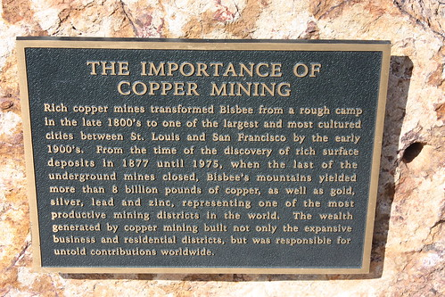 copper mining sign