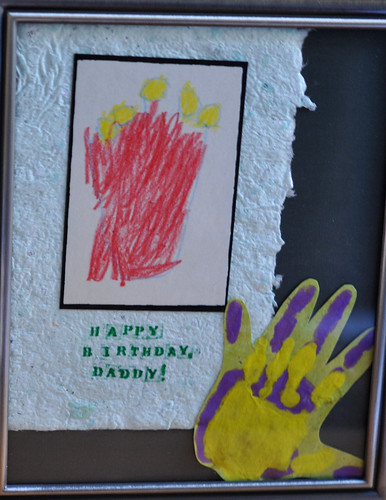 Birthday Card and Handprint