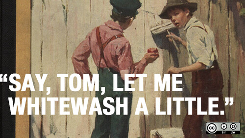 Tom Sawyer, whitewashing fences, and building communities online